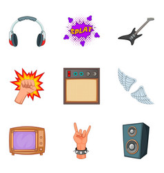 noise icons set cartoon style vector image