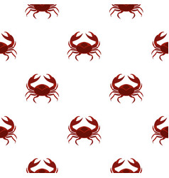 Red sea crab pattern seamless vector