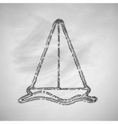sailboat icon vector image vector image