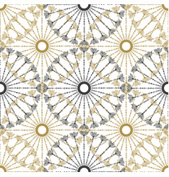 Seamless geometric vintage pattern black and gold vector