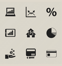 Set of 9 editable analytics icons includes vector