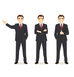Set of business man vector image