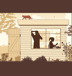 Shed startup business vector