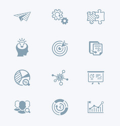 Startup business icons - tech series vector
