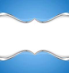 Stylish abstract blue background vector image vector image