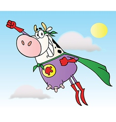 Super Cow Cartoon Character vector image vector image
