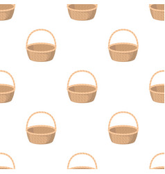 Wicker basket made of twigs easter single icon in vector