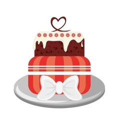 Decorated cake icon vector