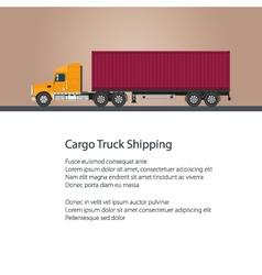 Truck with cargo container vector