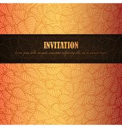 Autumn invitation vector