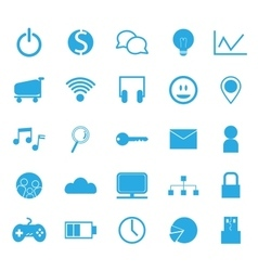 Seo technology icon set vector