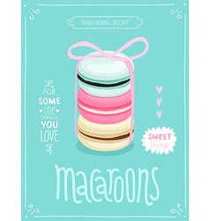 Macaroons Poster - template for your design vector image