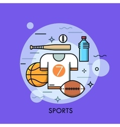 Sports equipment for player sporting goods and vector