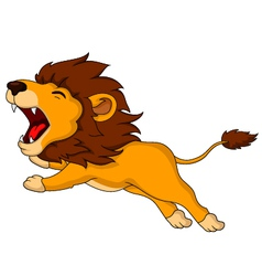 Roaring cartoon lion vector