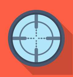 Optical sightpaintball single icon in flat style vector