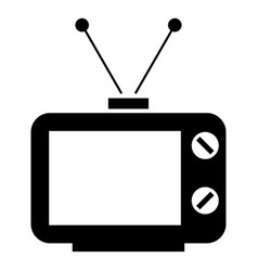 Old tv the black color icon vector