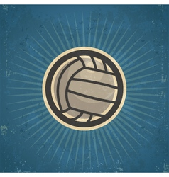 Retro volleyball vector