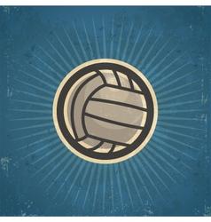 Retro volleyball vector
