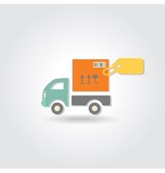 Van delivery concept icon vector image
