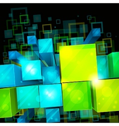 3d bright abstract background vector image