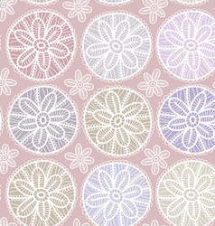 Seamless pattern vintage lace design pastel purple vector