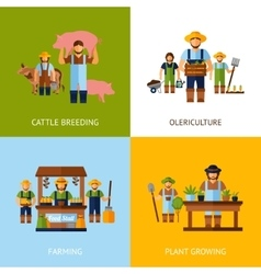 Farmers design concept vector