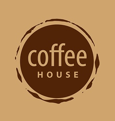 Round logo imprint of coffee vector