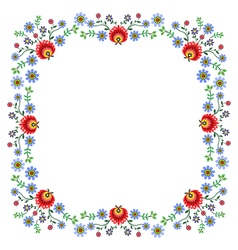 Folk pattern flowers-e vector