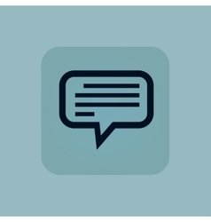 Pale blue text message icon vector