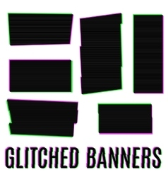 Glitched banners vector