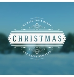 Christmas typography greeting card and flourishes vector