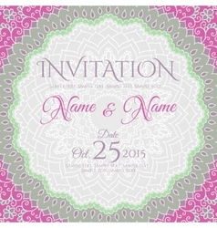Invitation card design with mandala ornament vector
