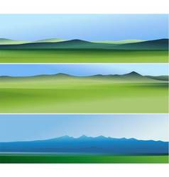 Three abstract banners with mountains vector image