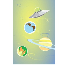 Planets and Alien vector image