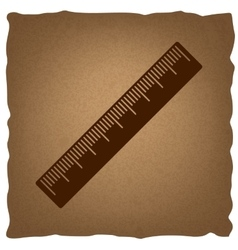 Centimeter ruler sign vector