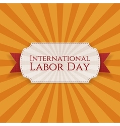 International labor day paper white label vector