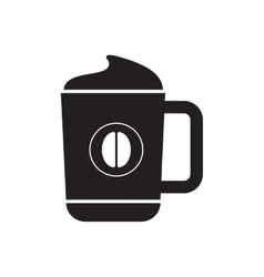 Black icon on white background cup of vector
