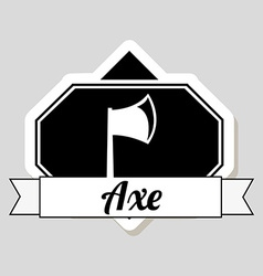 axe design vector image