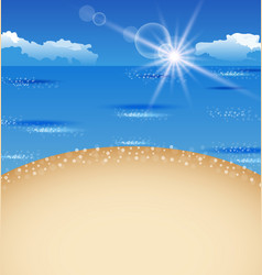 Beautiful summer postcard with beach vector image vector image