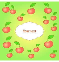 Card with apple background vector image