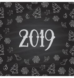 Christmas or New Year blackboard design vector image vector image