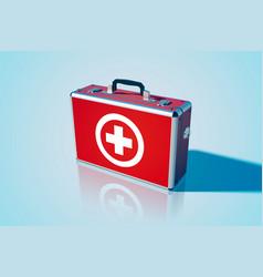 Closed medical bag template vector