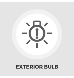 Exterior bulb failure flat icon vector image vector image