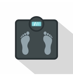 Gray floor scales icon flat style vector