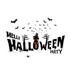 happy halloween typography scary horror vector image vector image