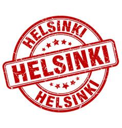 helsinki red grunge round vintage rubber stamp vector image vector image