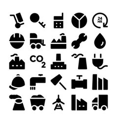 Industrial Colored Icons 8 vector image vector image