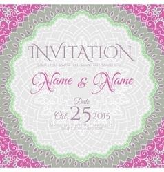 Invitation card design with mandala ornament vector image