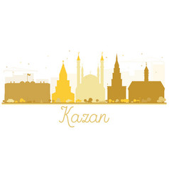 kazan city skyline golden silhouette vector image