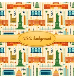 Landmarks of United States of America background vector image